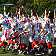 全国高等学校アメリカンフットボール選手権大会二年連続優勝