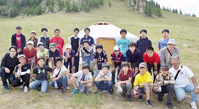 GLP 中1モンゴル異文化体験での集合写真