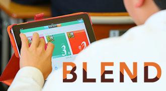Classiのアプリケーションを操作している生徒